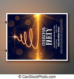 merry christmas party celebration beautiful flyer template