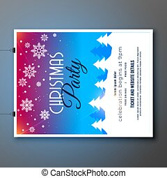merry christmas party celebration flyer template design