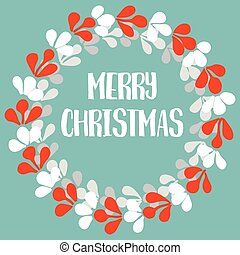 Merry Christmas pastel vector card