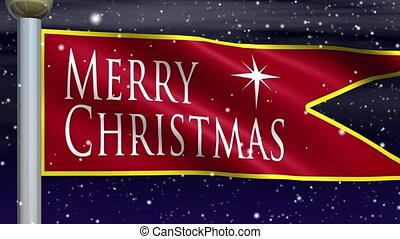 Merry Christmas Pennant Loop