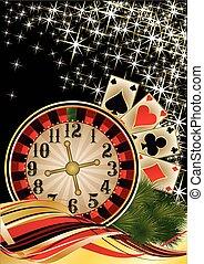 Merry Christmas Poker wallpaper