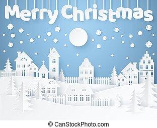 Merry Christmas Postcard Vector Illustration