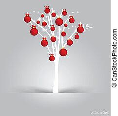 Merry Christmas postcard, vector illustration.