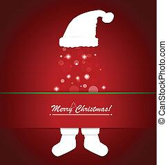 Merry Christmas postcard with Christmas decoration, vector illustration.
