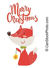 Merry Christmas Poster Congratulation from Fox - Merry...