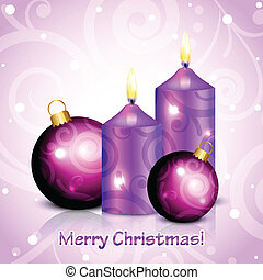 Merry Christmas purple background