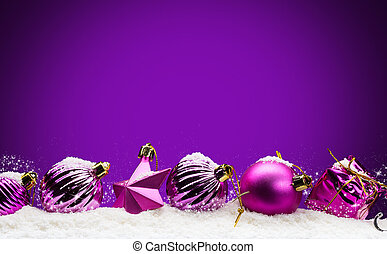 Merry Christmas -purple background