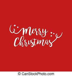 Merry christmas quote text lettering illustration