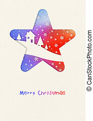 Merry Christmas rainbow winter card