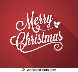 Merry Christmas. Red Background