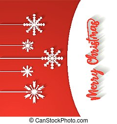 Merry christmas red background, vector