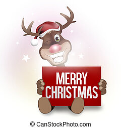 merry christmas red figure design - merry christmas