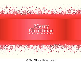 merry christmas red snowflakes background