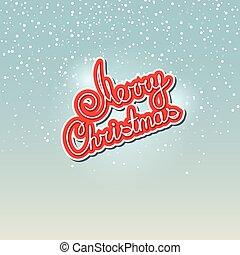 Text Merry Christmas on Snowfall Background