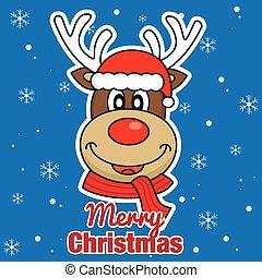 Merry Christmas. reindeer