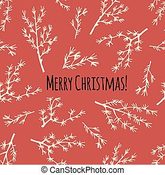 Merry Christmas retro card or poster in vector.