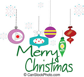 merry christmas - retro style merry Christmas greeting over...
