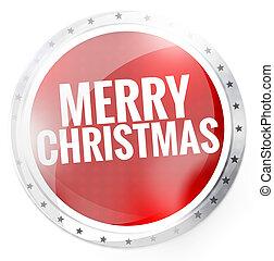 Merry Christmas Round Button