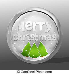 Merry Christmas round icon symbol design