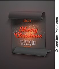 Merry Christmas Sale Poster Template