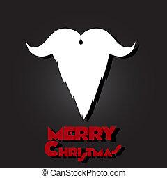 Merry Christmas, Santa Claus beard and mustache