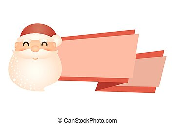 merry christmas santa claus with ribbon