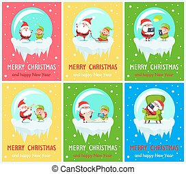 Merry Christmas Santa Helper Vector Illustration - Merry...