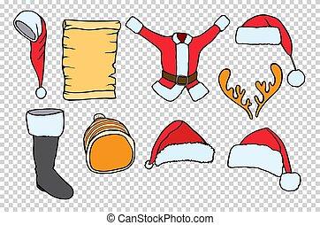 Merry Christmas set.