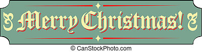 Merry Christmas Sign Clip Art