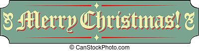 Merry Christmas Sign Clip Art