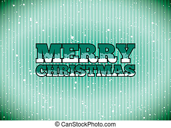 Merry Christmas sign - Green cold Merry Christmas sign with...