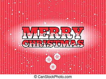 Merry Christmas sign - Red Merry Christmas sign with...