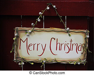 Merry Christmas Sign - hand painted country Merry Christmas...