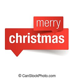 Merry Christmas sign label vector