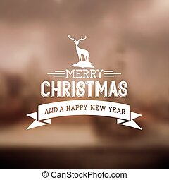 Merry Christmas Sign 0 Vector illustration.
