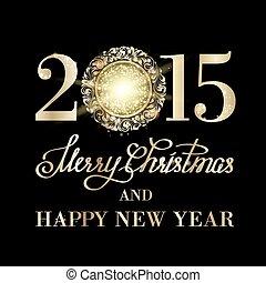 Merry christmas sign. - Merry christmas sign shine over dark...