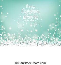 Merry Christmas Snow Bokeh Stars Cover - Christmas cover...