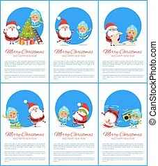 Merry Christmas Snow Maiden Vector Illustration