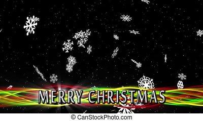 Merry Christmas Snowfall Loop