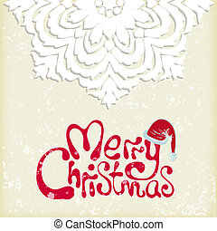 Merry christmas snowflake background