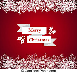 Merry Christmas snowflake border illustration