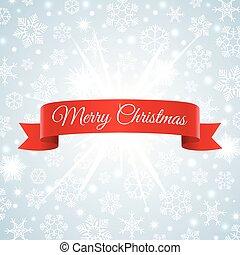 Merry Christmas snowflakes background