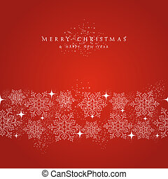 Merry Christmas snowflakes decorations elements border. - ...