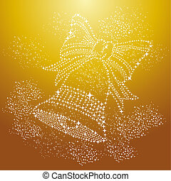 Merry Christmas sparkle bell background EPS10 vector file.