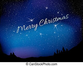 Merry Christmas. Star background