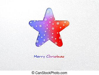 Merry Christmas star card