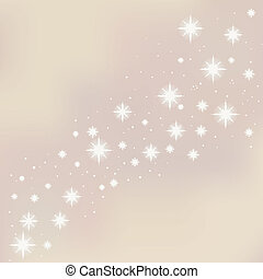 Merry Christmas starry background. Vector