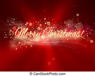 Merry Christmas! - Bright greeting card