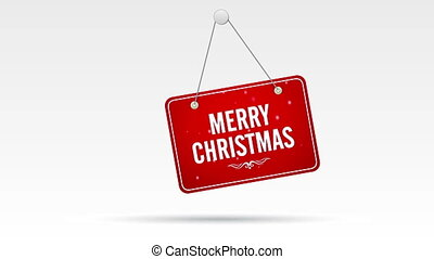 Merry Christmas Store Sign