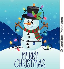 Merry Christmas subject image 1 - eps10 vector illustration.